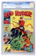 Golden Age (1938-1955):Western, Red Ryder Comics #14 File Copy (Dell, 1943) CGC FN/VF 7.0 Cream to off-white pages....