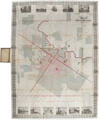 Kosse & Scott Map of the City of Houston and Environs according to the records and the oldest and lates