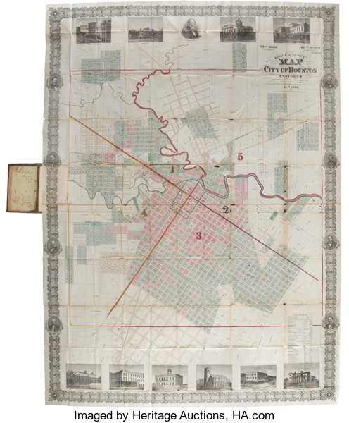 Kosse Scott Map Of The City Of Houston And Environs According