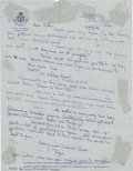 "Autographs:Authors, Ernest Hemingway Autograph Letter Signed. One page, 8.25"" x 10.5"", on Hotel Ritz letterhead, Paris, November 24, 1956. Signe..."