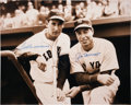 Autographs:Photos, Ted Williams and Joe DiMaggio Dual-Signed Oversized Photograph....