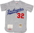 Autographs:Jerseys, Sandy Koufax Signed Jersey. ...