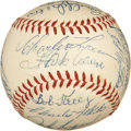 Autographs:Baseballs, 1954 Milwaukee Braves Team Signed Baseball. ...