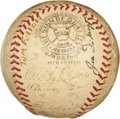 Autographs:Baseballs, 1938 New York Yankees Team Signed Baseball. ...