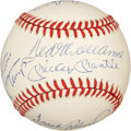 Autographs:Baseballs, 500 Home Run Club Baseball Signed by Eleven. ...