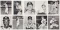 Baseball Collectibles:Others, 1961 Manny's Baseball Land Milwaukee Braves Complete Set (10). ...