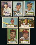 Baseball Cards:Lots, 1952 Topps Baseball High-Numbered Series Lot of 7. ...