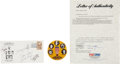 Basketball Collectibles:Others, 1987 Hall of Fame Induction Ceremony Signed Cachet with PeteMaravich. ...