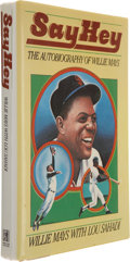Autographs:Others, Willie Mays Signed Book. ...