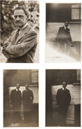 Miscellaneous:Ephemera, W. Somerset Maugham. Four Real Photo Postcards, Two Signed. Fourphotographs of Maugham printed on paper with a postcard bac...(Total: 4 Items)