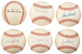Autographs:Baseballs, Hall of Fame Pitchers Single Signed Baseballs Lot of 6. ... (Total:6 items)