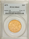 Liberty Eagles: , 1879 $10 MS62 PCGS. PCGS Population (56/30). NGC Census: (90/44).Mintage: 384,770. Numismedia Wsl. Price for NGC/PCGS coin...