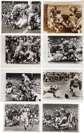 Football Collectibles:Photos, 1960's Football Wire Photographs Lot of 22. ...