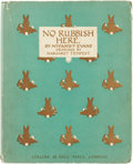 Books:Children's Books, Myfanwy Evans. No Rubbish Here. London: Collins, 1936. Firstedition....