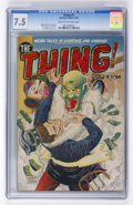 Golden Age (1938-1955):Horror, The Thing! #3 (Charlton, 1952) CGC VF- 7.5 Cream to off-whitepages....