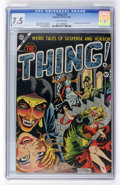 Golden Age (1938-1955):Horror, The Thing! #12 (Charlton, 1954) CGC VF- 7.5 Off-white pages....
