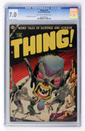 Golden Age (1938-1955):Horror, The Thing! #14 (Charlton, 1954) CGC FN/VF 7.0 Light tan tooff-white pages....
