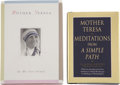 Books:Signed Editions, Mother Teresa. Two Signed Books and Original Photographs,including: Meditations from a Simple Path. [and:] ...(Total: 2 Items)