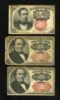 Fractional Currency:Fifth Issue, Fr. 1266 10c Fifth Issue VG-Fine. Fr. 1309 25c Fifth Issue. TwoExamples. VG.. ... (Total: 3 notes)