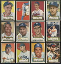 1952 Topps Baseball Low- and Middle-Series Near Run (281/310)