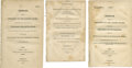"""Miscellaneous:Ephemera, Group of Three Imprints, dated 1814, 1822, and 1824, containing""""Message[s] from the President"""", concerningFlorida,... (Total: 3 Items)"""