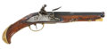 Military & Patriotic:Revolutionary War, Exquisite Quality, Relief-Carved, French/ Belgian Flintlock BeltPistol, Circa 1760....