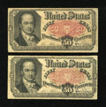 Fractional Currency:Fifth Issue, Fr. 1381 50c Fifth Issue. Two Examples. . ... (Total: 2 notes)