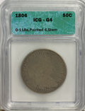 Early Half Dollars, 1806 50C Pointed 6, Stem G4 ICG. O-118a. NGC Census: (3/964). PCGSPopulation (2/854). Mintage: 839,576. Numismedia Wsl. Pr...