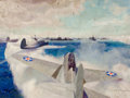 Mainstream Illustration, MCCLELLAND BARCLAY (American, 1891-1943). Pacific Fleet,Hawaii. Oil on canvas. 30 x 40 in.. Signed lower right. ...