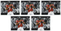 Football Collectibles:Others, Michael Vick Signed Lithographs Lot Of 5....