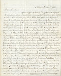 """Autographs:Celebrities, [John Brown] Jason Brown Autograph Letter Signed to his brotherJohn Brown Jr. Four pages, 7.75"""" x 9.75"""", January 3, 1859, """"..."""