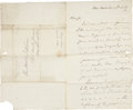 "Autographs:U.S. Presidents, [Thomas Jefferson] Henry Lee IV Autograph Letter Signed. Threepages, 8"" x 13.25"", July 28, 1827, Nashville [Tennessee], to ..."