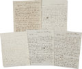 Autographs:Statesmen, [Presidential Election of 1844] Group of Five Letters all datedbetween January 13, 1843, and July 29, 1843, with topics on ...(Total: 5 Items)