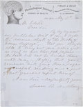 "Autographs:Celebrities, Susan B. Anthony Autograph Letter Signed. One page, 8"" x 10"", May17, 1881, New York, to ""Mr. Editor"", concerning the re..."