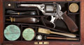 Military & Patriotic:Civil War, Superb Condition Cased Tranter's Patent 80 Bore Percussion Double Action Revolver with New Orleans Agent's Markings and Excell...