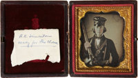 Absolutely Stunning, Circa 1856 Sixth Plate Daguerreotype Portrait of an Approximately Twenty-one Year Old Absalom K. Si...