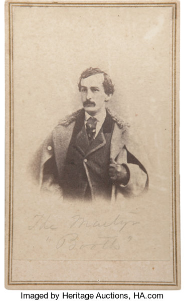 PhotographyCDVs Intriguing E Amp H T Anthony Carte De Visite Of JohnWilkes Booth