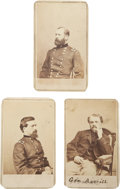Photography:CDVs, Group of Three Very Nice Civil War Period Brady/Anthony Cartes de Visite of Union Generals.... (Total: 3 Items)