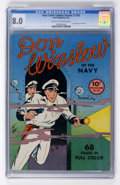 Golden Age (1938-1955):War, Four Color (Series One) #22 Don Winslow of the Navy (Dell, 1942)CGC VF 8.0 Cream to off-white pages....