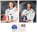 Autographs:Celebrities, Apollo 11 Crew: Signed Photos and FDC. ... (Total: 3 Items)