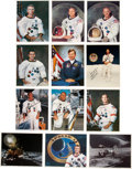 Autographs:Celebrities, Moonwalkers: Signed Color Photo Set (Twelve). ... (Total: 12 Items)