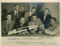 """""""Mercury Seven"""" NASA Astronaut Group One Photo Signed by All"""