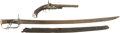Military & Patriotic:Revolutionary War, Historically Important Pistol and Sword Identified to HughMcPherson, Norfolk, Virginia, who Served with Col. Moses Hazen'sRe... (Total: 2 Items)
