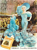 "Movie Posters:Miscellaneous, Mae West ""Old Gold"" Cigarettes Ad (1934). Poster (30.5"" X 41.5"")....."