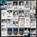 Autographs:Others, Dodgers Signed Images Lot of 54. ...