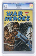 Golden Age (1938-1955):War, War Heroes #8 File Copy (Dell, 1944) CGC VF/NM 9.0 Cream to off-white pages....