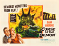 "Movie Posters:Horror, Curse of the Demon (Columbia, 1957). Half Sheet (22"" X 28"") StyleA.. ..."