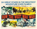 "Movie Posters:Western, How the West was Won (MGM, 1963). Half Sheet (22"" X 28"") Style A.. ..."