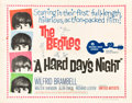 "Movie Posters:Rock and Roll, A Hard Day's Night (United Artists, 1964). Half Sheet (22"" X 28"")....."