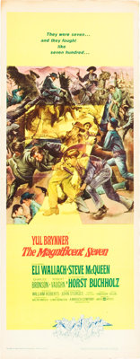 """The Magnificent Seven (United Artists, 1960). Insert (14"""" X 36"""")"""